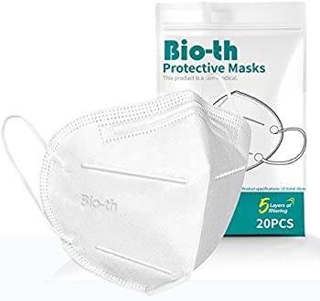 20-Pack KN95 Face Mask Reusable Disposable Masks