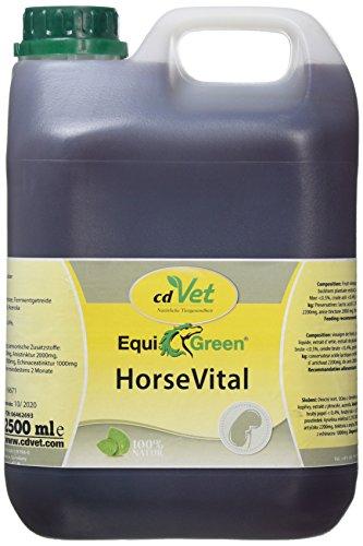 cdVet Naturprodukte EquiGreen HorseVital 2,5 Liter - Pferde -  Leistungsfähigkeit - intakte Haut + glänzendes Fell - Verdauung - Stoffwechsel - Versorgung mit Mikronährstoffen - Entgiftungsorgane -