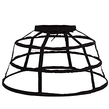 FairyCos Cage Hoop Skirt Petticoat Dress Pannier 3 Hoops Bustle Cage Crinoline