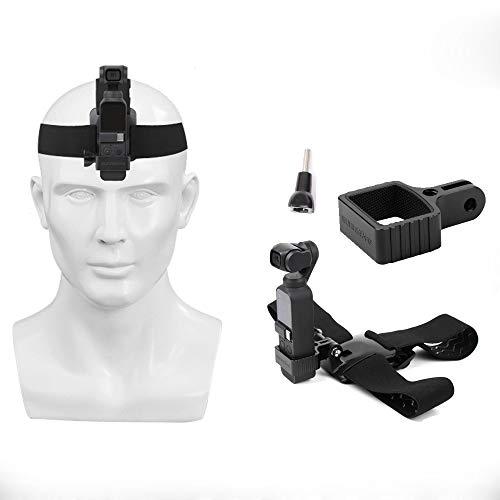 Linghuang Kopfband Adapter für DJI OSMO Pocket & GoPro Action-Kamera 360 ° Verstellbare Hauptband Kopfhalterung