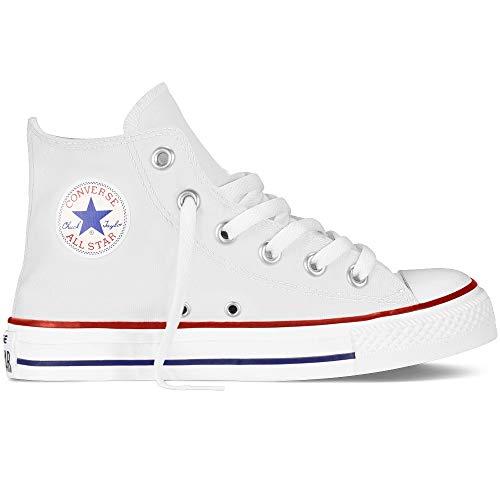 Converse Chuck Taylor Allstar Kinder Unisex Canvas Sportschuhe mit 7kmh Aufkleber Weiß 15048 35