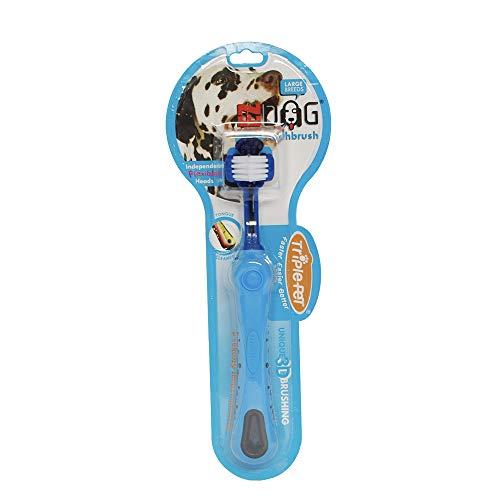 EZDOG Brosse à dents à trois côtés pour chiens | Soin dentaire pour chiens pour une haleine fraîche | Grandes races
