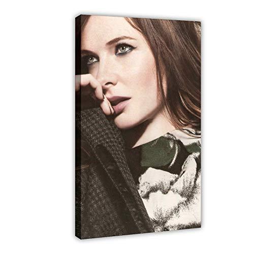 Rebecca Ferguson - Poster su tela per camera da letto con film e televisione svedese Rebecca Ferguson, decorazione per ufficio, ufficio, 60 x 90 cm