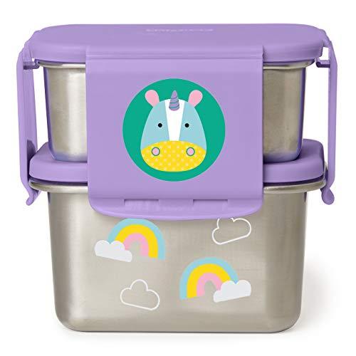 Skip Hop Zoo Kit de almuerzo de acero inoxidable, diseño de unicornio