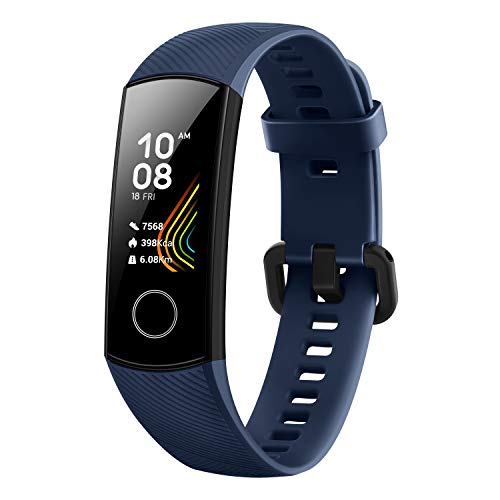 Honor Band 5 wasserdichter Bluetooth Fitness Aktivitätstracker mit Herzfrequenzmesser, AMOLED-Farbdisplay, Touchscreen, Midnight Navy