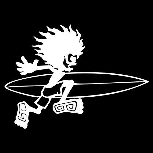 DSRLO Autocollant de Voiture 18 CM * 13 CM Snowboard Scooter Surf Van Mode Vinyle Car-Styling Autocollants Stickers Noir/Argent