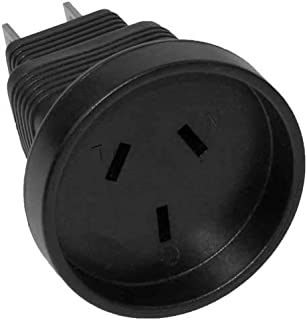 SF Cable, 3 Prong Power Plug Adapter, Australia AS3112 receptacle to USA NEMA 5-15P