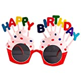 Gafas de Cumpleaños,Gafas de Fiesta para Cumpleaños Gafas de papel novedad Juguete feliz cumpleaños Fiesta Marcos de anteojos Photo Prop Party Supplies para Niños y Adultos