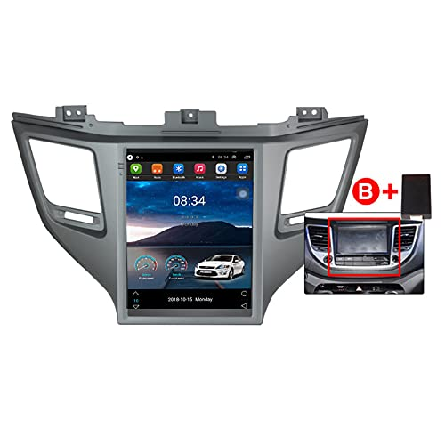 ADMLZQQ para Hyundai Tucson 2015-2018 Android 10.0 In-Dash Radio Estéreo para Automóvil Pantalla Táctil De 9.7 Pulgadas Bluetooth GPS FM Am DSP Cámara Trasera Control del,B,TS1 4core1+16