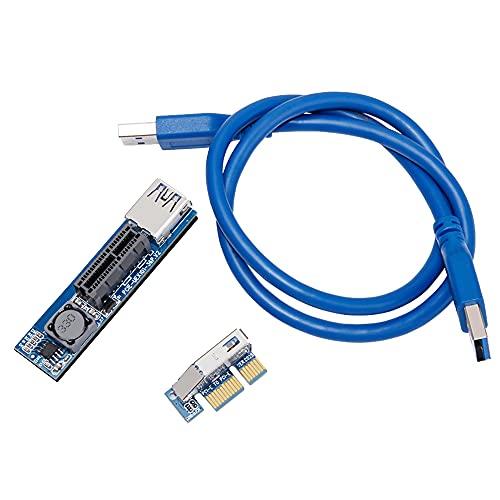 Cmstop Adaptador de Tarjeta de extensión Vertical PCI-E 1X a X1 Adaptador...