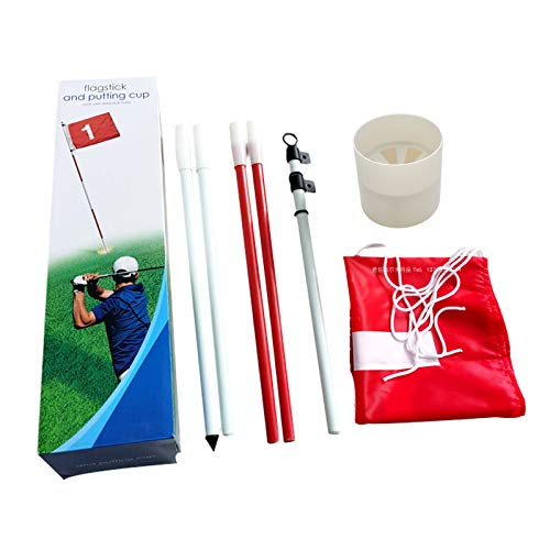 Purchase DSstyles Golf Hole Pole Cup Flag Stick 5 Section Golf Putting Green Flagstick Golf Flag Fla...