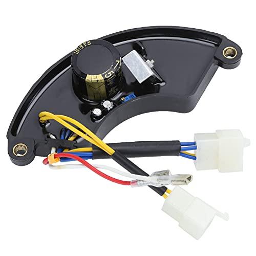 Regulador de voltaje automático del generador de 250V 470UF AVR para piezas del generador de gasolina de 5‑6.5KW, regulador de voltaje del generador regulador del generador AVR