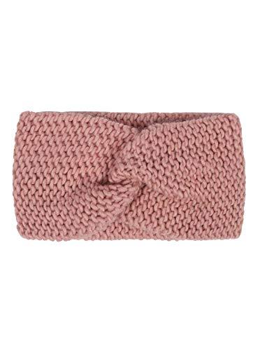 Zwillingsherz Stirnband mit Knoten - Hochwertiges Strick-Kopfband für Damen Frauen Mädchen - Wolle - Ohrenschutz - Haarband - warm weich und luftig für Frühjahr Herbst und Winter - altr