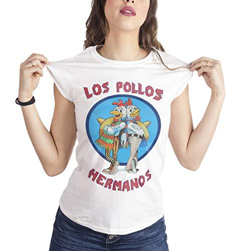 T-Shirt Donna Los Pollos Hermanos Breaking Bad - Donna-XL-Bianca