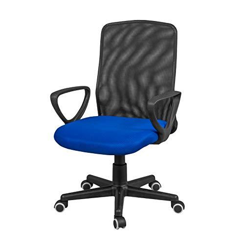 duehome Silla de Oficina, Silla para Escritorio o Estudio, Medidas: 58x88,5x55cm, Coco (Azul)