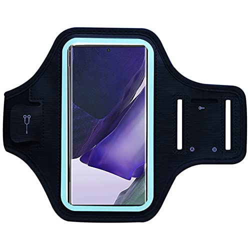 MELOP Sportarmband Handy für Samsung Galaxy S21 Ultra S21 S20 Plus FE Note 20 Ultra, Moto G10 G20 G30 G50 G60 G G8 G8 G9 G10 Power Lite, E7 G9 Plus Power Play Schweißfeste mit Schlüsselhalter Tasche