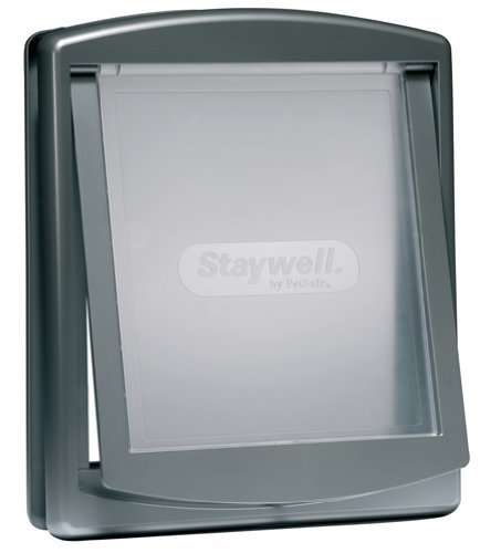 Staywell Original 2-Wege-Katzenklappe, klein, silber