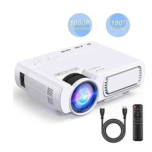 WiFi-Projektor Unterstützt 1080p High-Definition-LED-Projektor Mit 55.000 Stunden LED Lebensdauer Der Lampe Mit HDMI AV VGA SD-Karten-Steckplatz Projector
