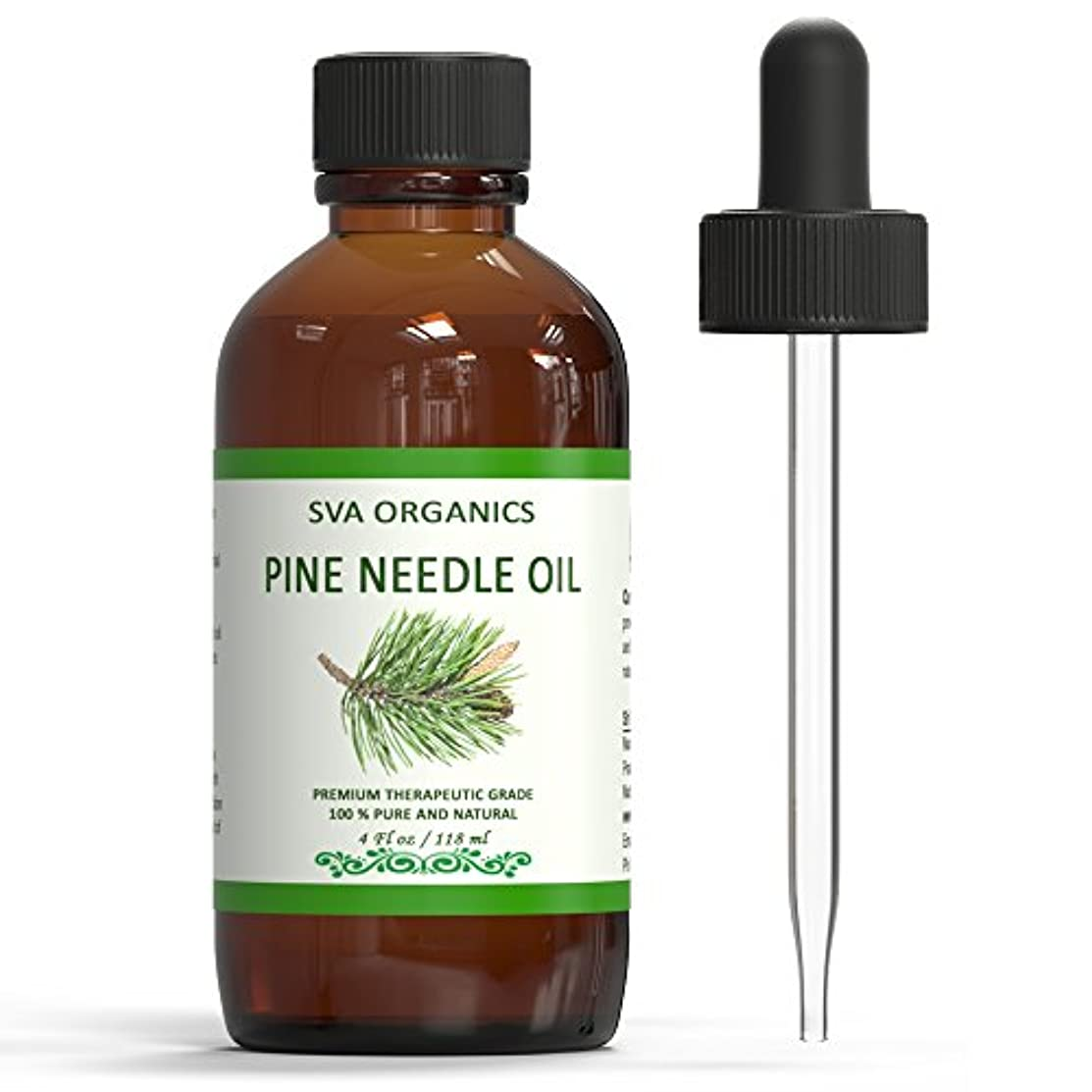 SVA ORGANICS Pine Needle Essential Oil Large Size 4 OZ (118 ML) Therapeutic Grade, 100% Pure Premium Grade Oil for Skin and Hair Care