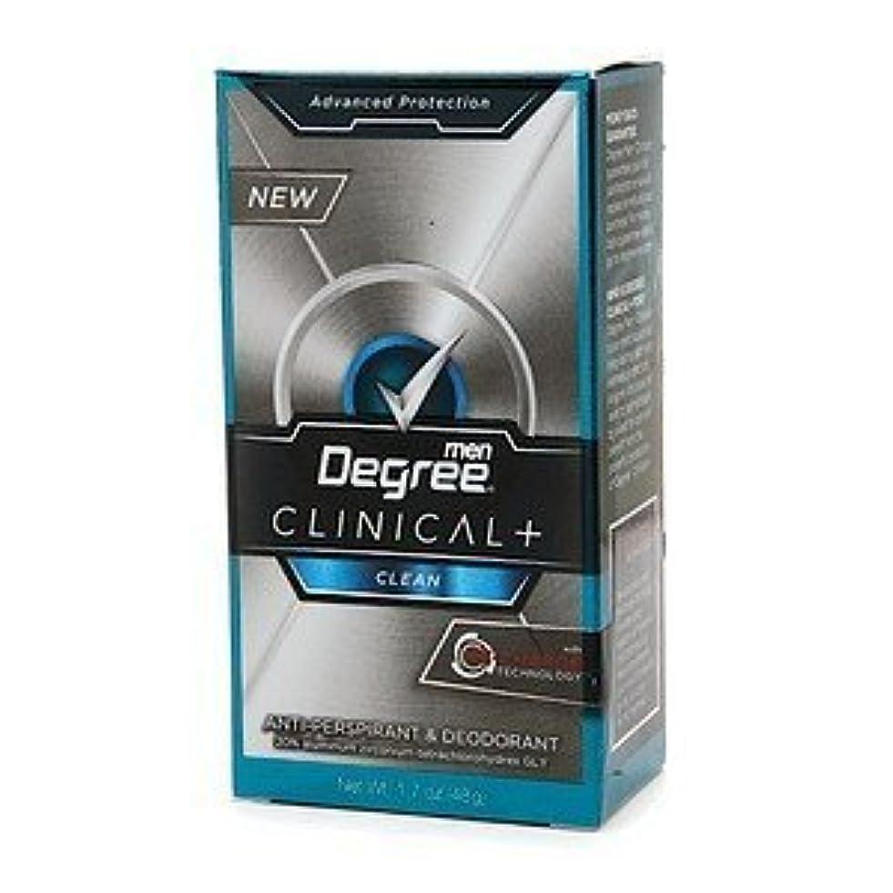 創始者ベーリング海峡製油所Degree Men Clinical+ Antiperspirant & Deodorant, Clean, 50g (Pack of 6) (並行輸入品)