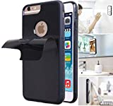 Anti Gravity Phone Case for iPhone 6S with Dust Proof Film, Magic Nano Hands Free Stick to Wall Anti-Gravity Case Black AntiGravity Case for iPhone 6 (iPhone 6S Hole)