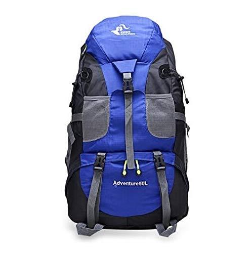 Generic Brands Sac à Dos IBHT Chevalier Gratuit 50L Outdoor Sport Camping Alpinisme Randonnée Backpackages Sac étanche Sport (Bleu) 1 (Color : Blue)