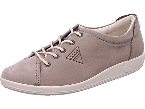 Ecco Damen Soft 2.0 Derby Schnürhalbschuhe, Grau (2375 Warm Grey), 35 EU