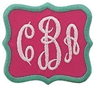 Custom Embroidered Iron On Monogram Initial Script Patch-Choose Fabric And Thread Colors