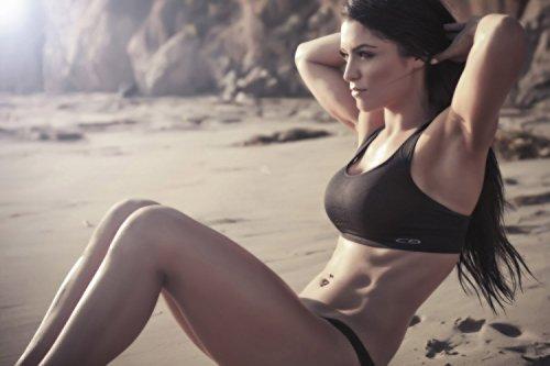 TST INNOPRINT CO Eva Marie Workout Fitness Motivational Silk Poster 36x24 Inches