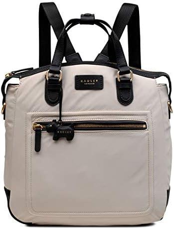 Radley London Womens Spring Park Convertible Nylon Backpack Medium Dove Grey product image