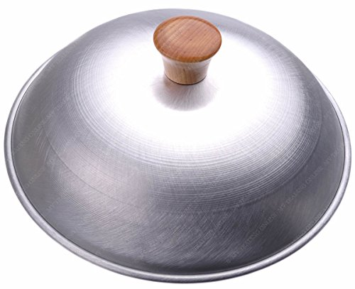 Aluminum Dome Wok Lid/Wok Cover, 13-Inches, (For 14' Wok), 18 Gauge, USA Made