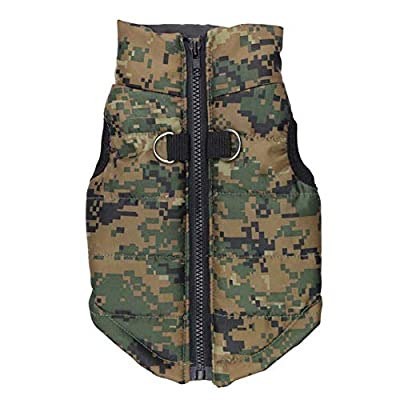 BT Bear® Puppy Coat,Small Dog Winter Coat Vest Puppy Soft Warm Coat Jacket Clothing Costume for Cats Puppy Small Dogs (Large-Back length 34cm, Camouflage)