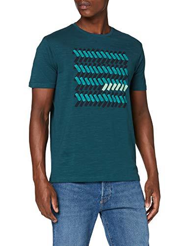 Springfield 4So Zig Zag-C/24 Camiseta, Verde (Green 24), M (Tamaño del Fabricante: M) para Hombre