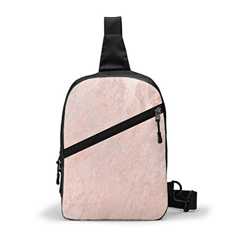 Rose Gold Chest Package Multipurpose Crossbody Outdoor Shoulder Bag Daypack Sling Backpack Large Capacity Casual Sport Rucksack for Hiking Travel Sport
