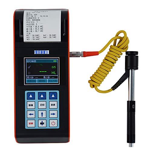 ZLLZM Portable Testeur De Dureté Leeb Mètre Imprimante Intégrée Interface USB Groupes HL, HRC, HRB, HV, HB, HS