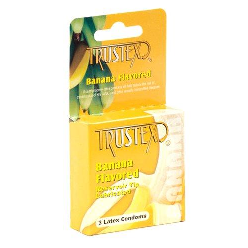 Trustex Flavored Condoms, Banana, 3 Count
