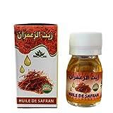 Huile de safran 100 % naturelle et pure - 30 ml - unifie le teint - Hydratant - détente et massage - Pour avoir des cheveux souples et toniques - Crocus Sativus