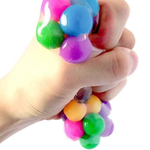 DNA Stress Ball,Rainbow Stress Ball Fidget Toy Fidget Sensory Balls for Calm Focus and Hand Exercise (A)