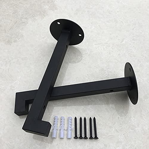 YHBZ Soporte de Estante Industrial,Soportes flotantes Negros,Soporte Estanteria Cuadrados Retro montados en la Pared,estantería Metal (Paquete de 2),Ahorra Espacio,15cm(6inch)