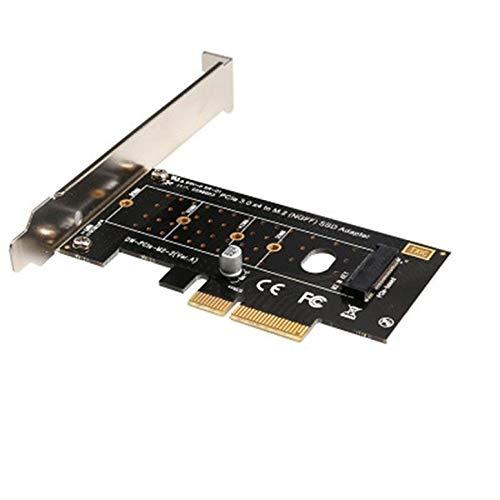 M.2 NVMe SSD NGFF to PCIE 3.0 X4-Adapter M Schlüsselschnittstellenkarte 6-Gbit/s-Adapter mit voller Geschwindigkeit