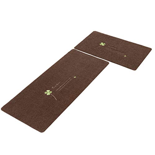 Lowest Price! CarPet Kitchen mat wear-Resistant Anti-Slip mat for Bedroom Bathroom Two Sizes (Color ...