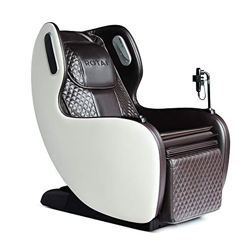 Rotai Massagesessel - Shiatsu Massagestuhl mit 6 automatischen Massageprogrammen - USB, Bluetooth, bequemer Loungesessel für zu Hause und im Büro (braun)