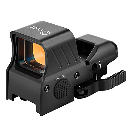 CVLIFE 1x22x33 Reflex Red Dot Sight with 4 Reticles Quick Detach Mount 20mm Picatinny Rail