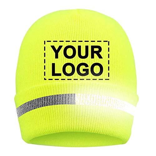 YOWESHOP Personalizar - Gorro de punto para hombre de alta visibilidad, para exteriores, de alta visibilidad, Thinsulate