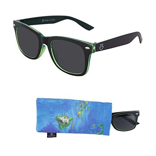 Sunglasses for Children – Smoked Lenses for Kids  Reduces Glare 100% UV Protection Green