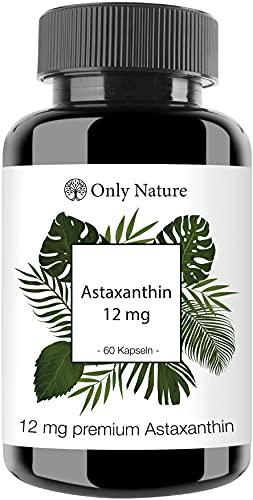 Einführungspreis (NEU): Only Nature® Astaxanthin 12 mg (+ Vitamin E) - 60 hochdosierte Kapseln - laborgeprüfte Gel Caps - natürlich - ohne Zusätze - in Deutschland produziert