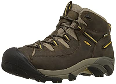 KEEN Men's Targhee II Mid Waterproof Hiking Boot,Black Olive/Yellow,10 M US