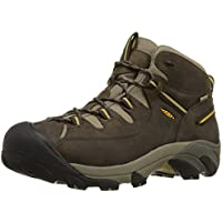 KEEN Men's Targhee II Mid Waterproof Hiking Boot (Black Olive/Yellow)