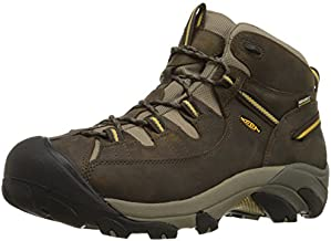 KEEN Men's Targhee II Mid Waterproof Hiking Boot,Black Olive/Yellow,11 M US