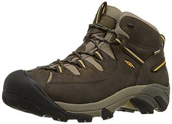 KEEN Men s Targhee II Mid Waterproof Hiking Boot,Black Olive/Yellow,11 M US
